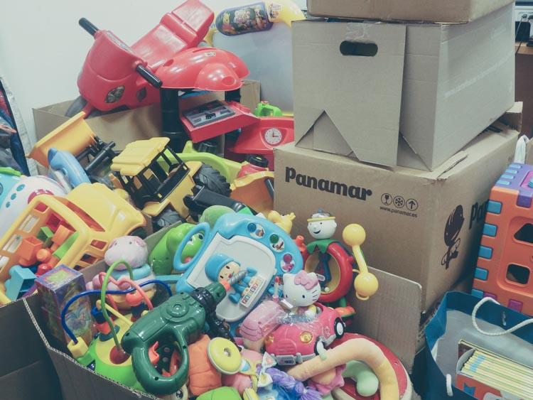 recogida juguetes zaragoza guardatodo rastrillo navidad